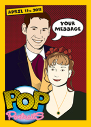 Advert for Pop Portraits